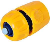 Коннектор с аквастопом 1/2 VERANO 72-101 фитинг переходник для пистолета крана поливалки шланга распылителя