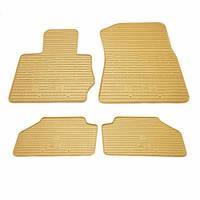 Комплект резиновых ковриков в салон автомобиля BMW X4 F26 бежевые (2027114)