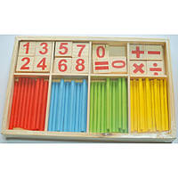 Набор Учимся Считать в деревянной коробке Josef Otten 18682