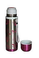 Термос для школы Con Brio 0,5л CB318 pink с ручкой