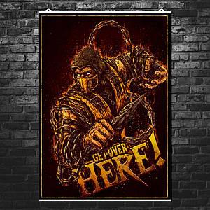 """Постер """"Mortal Kombat. Скорпион, Scorpion"""". Мортал Комбат. Размер 60x42см (A2). Глянцевая бумага"""