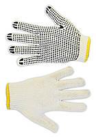 Перчатки вязанные белые с вкраплением, L Technics 16-002 | Рукавички плетені білі з вкрапленням, L Technics