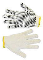 Рукавички плетені білі з вкрапленням, L Technics 16-002 | перчатки плетеные белые вкраплением