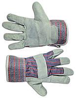 Рукавички робочі замшеві сірі Technics 16-150 | перчатки рабочие замшевые серые
