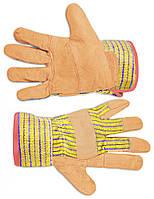 Рукавички робочі замшеві жовті Technics 16-151 | перчатки рабочие замшевые желтые