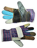 Перчатки кожаные утолщенные, L Technics 16-178 | Рукавички шкіряні потовщені, L Technics 16-178