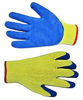Перчатки трикотажные с латексным покрытием, синие Technics 16-230 | Рукавички трикотажні златексним покриттям,