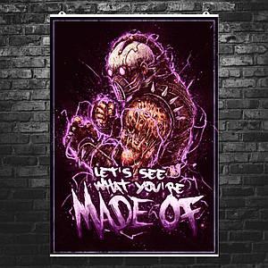 """Постер """"Mortal Kombat. Kabal, Кабал"""". Мортал Комбат. Размер 60x42см (A2). Глянцевая бумага"""