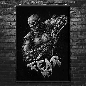 """Постер """"Mortal Kombat. Нуб Сайбот, Noob Saibot"""". Мортал Комбат. Размер 60x42см (A2). Глянцевая бумага"""