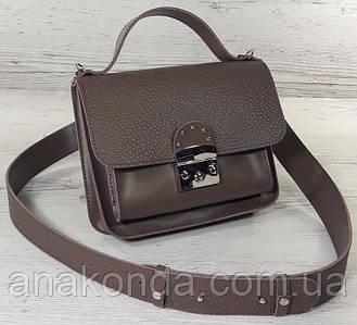 572-2 Сумка женская натуральная кожа, темный беж Светло-коричневая Бежевая сумка Бежевая Кофейная сумка