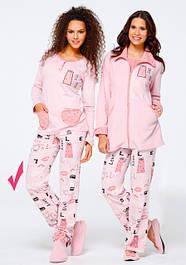 Женские теплые пижамы, костюмы