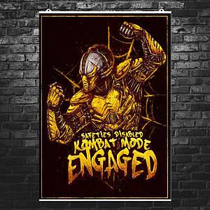 "Постер ""Mortal Kombat. Сайракс, Cyrax"". Мортал Комбат. Размер 60x42см (A2). Глянцевая бумага"
