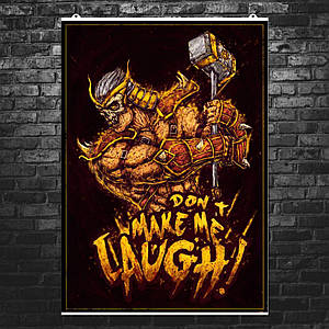 "Постер ""Mortal Kombat. Шао Кан, Shao Kahn"". Мортал Комбат. Размер 60x42см (A2). Глянцевая бумага"