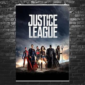 "Постер ""Лига Справедливости. Все герои"". Justice League. Размер 60x42см (A2). Глянцевая бумага"