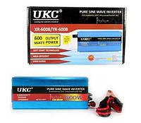 Преобразователь напряжения (инвертор) чистая синусоида UKC 600Вт DC/AC 12В-220В, выход USB 5В
