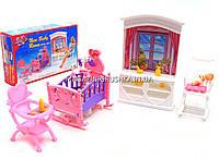Детская игрушечная мебель Глория Gloria для кукол Барби Детская комната 24022. Обустройте кукольный домик