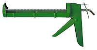Пистолет для герметика полуоткрытый металлический зубчатый стержень Favorit 12-003 | Пістолет для герметика