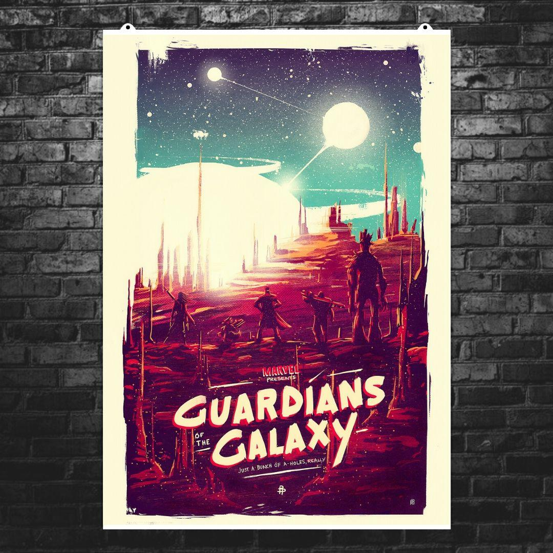 """Постер """"Стражи Галактики. A bunch of a-holes"""". Guardians of the Galaxy. Размер 60x43см (A2). Глянцевая бумага"""