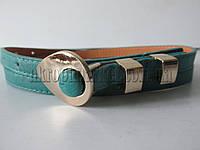 """Ремень женский бирюзовый(кож.зам, 10 мм.) №М18313 """"Remen"""" LM-638"""