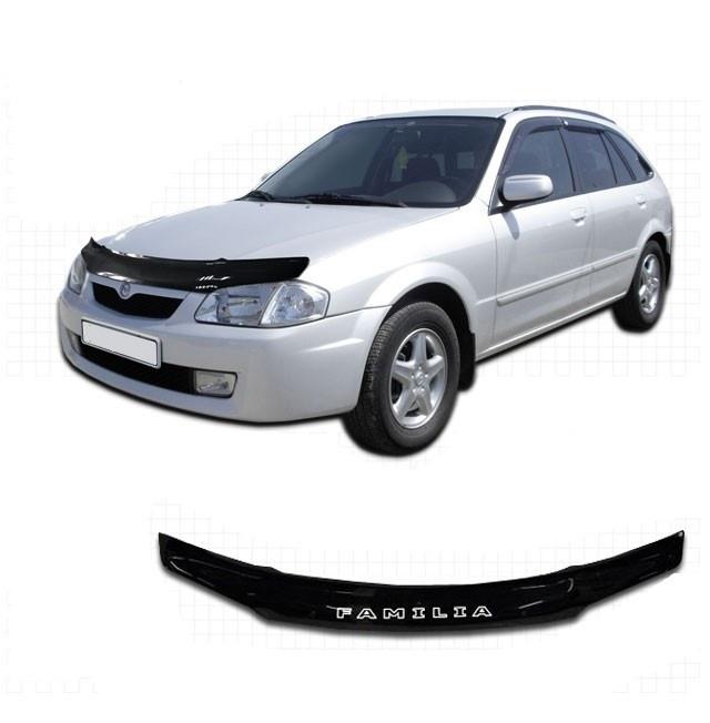 Дефлектор капота  Mazda Familia с 2000–2003,  Мухобойка Mazda Familia