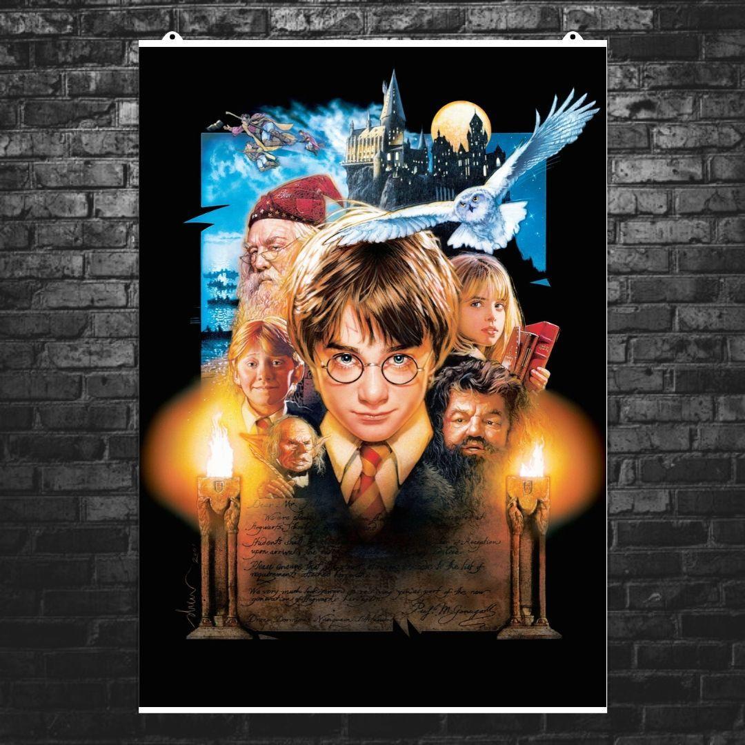"""Постер """"Гарри Поттер и философский камень"""". Harry Potter. Размер 60x42см (A2). Глянцевая бумага"""