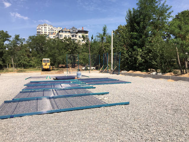 Строительство спорт площадки 1