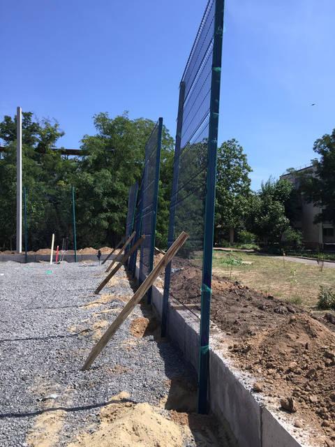 Строительство спорт площадки 3