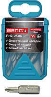 Біта PH2 25мм 25шт Berg 47-121  біта, насадка, головка, бита, для шуруповерта, отвертки