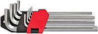 Набір ключів имбусовых подовжених, Cr-V, 9шт Technics 49-112 | Набір ключів імбусових подовжених, Cr-V, 9шт