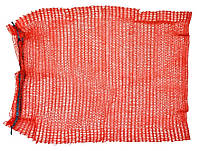 Сітка-мішок для пакування цибулі з зав'язкою, червона, 40х60см, до 20 кг 69-220 | упаковки лука красная мешок,