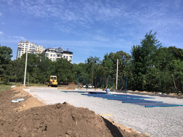 Строительство спорт площадки 5