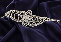 Роскошный свадебный  женский браслет камнями