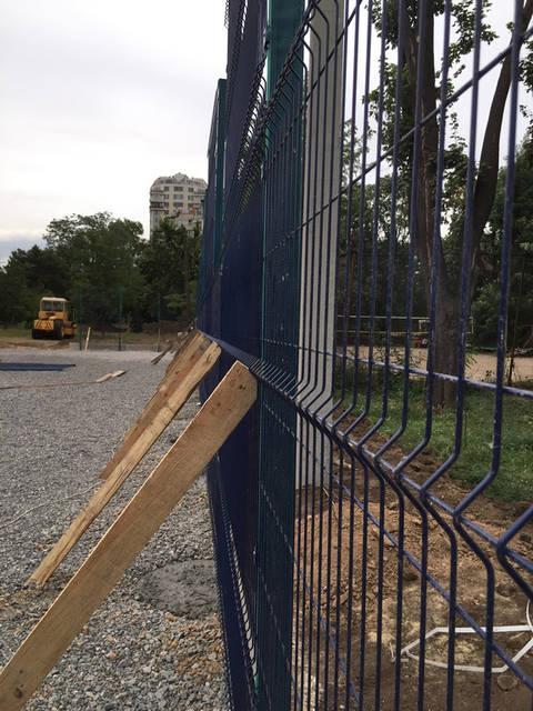 Строительство спорт площадки 9