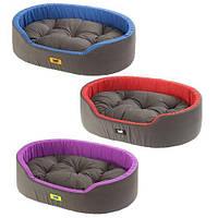 Мягкая лежанка Dandy 65 Blue-Green-Purplele для собак и кошек, 65x46x28 см