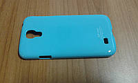 Накладка Samsung Galaxy S IV (i9500) голубая