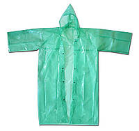 Плащ-дощовик рибацький, металеві кнопки розм. 60-62, зелений 70-162 | рыбацкий зеленый дождевик