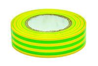 Изолента ПВХ зелёно-жёлтая, 19ммх20м Technics 10-712 | Ізострічка ПВХ зелено-жовта, 19ммх20м Technics 10-712
