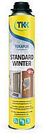 Піна монтажна зимова Tekapur Standard Winter 750мл 45л (3917) TKK 12-516 | пена монтажная, будівельна
