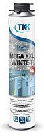 Піна монтажна зимова Tekapur Mega Winter, GUN, 850 мл, 65 л (6116) TKK 12-518 | пена монтажная, строительная, будівельна зимняя