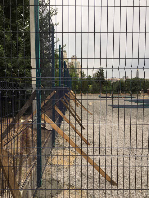 Строительство спорт площадки 14