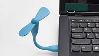 Гибкий вентилятор USB для PowerBank или ноутбука, простое использование, минимальное потребление энергии