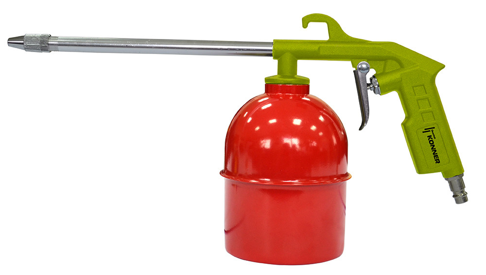 Фарбопульт пневматичний для розпилення рідин з нижнім бачком 1000 мл Konner 52-722   пистолет, распылитель