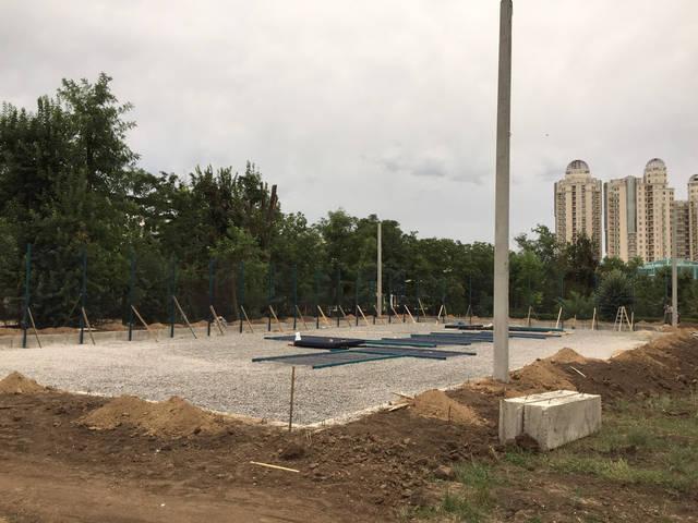 Строительство спорт площадки 16