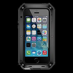 Чехол LunaTik Taktik Strike Gorilla Glass для iPhone 5/5s/5se Black (4949)