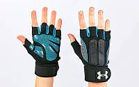 Перчатки атлетические с фиксатором запястья UNDER ARMOUR ВС-2682