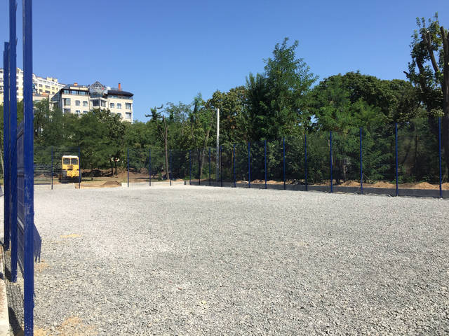 Строительство спорт площадки 20