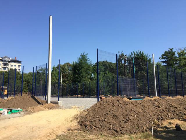 Строительство спорт площадки 21