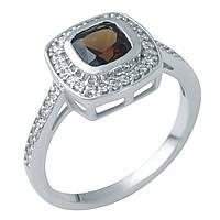 Серебряное кольцо  с натуральным гранатом , фото 1