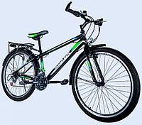 """Велосипед с Багажником SPARK VSP SPACE TV26-15-18-002 Чёрно Салатовый (рама 15"""") на 26 дюймов"""