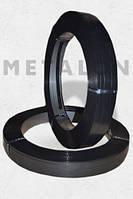 Лента 19х0,6 стальная упаковочная лакированная черный лак